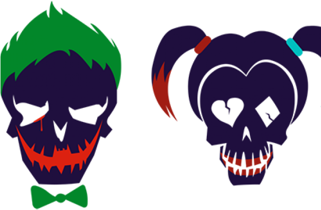 Skull Clipart Joker Harley Quinn And Joker Skulls Png Download Full Size Clipart 327375 Pinclipart