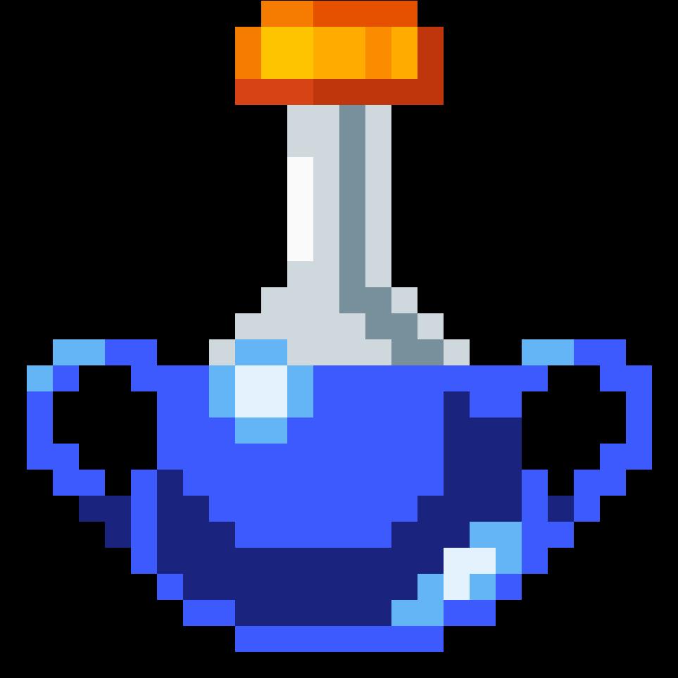 Big Mana Potion Fortnite Big Shield Pixel Art Clipart
