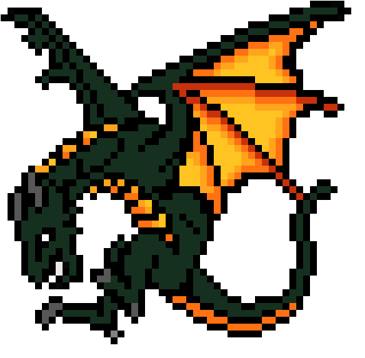 Fire Dragon Blue Dragon Pixel Art Dragon Clipart Full