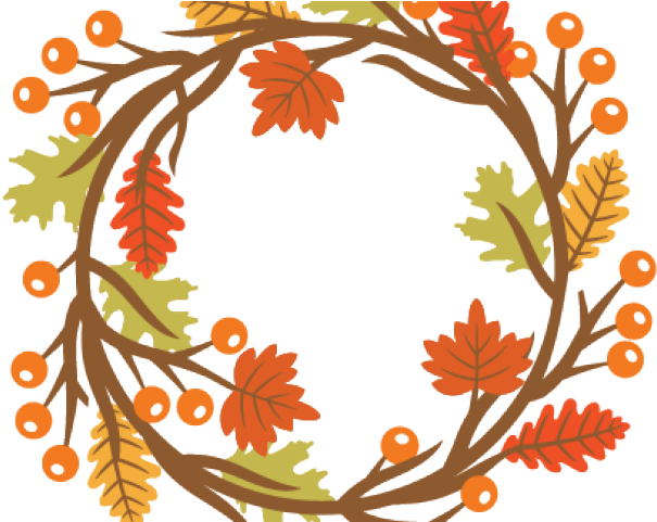Fall Clipart Wreath Autumn Wreath Clipart Free Png Download Full Size Clipart 3248710 Pinclipart