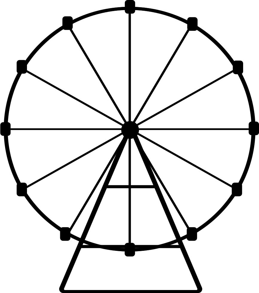 Ferris Wheel Coloring Page - Desenho De Roda Gigante Para Colorir -  1000x1000 PNG Download - PNGkit   980x865