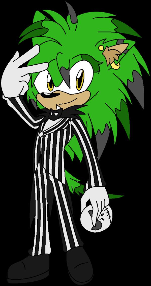 Halloween Skellington Clipart - Sonic As Jack Skellington ...