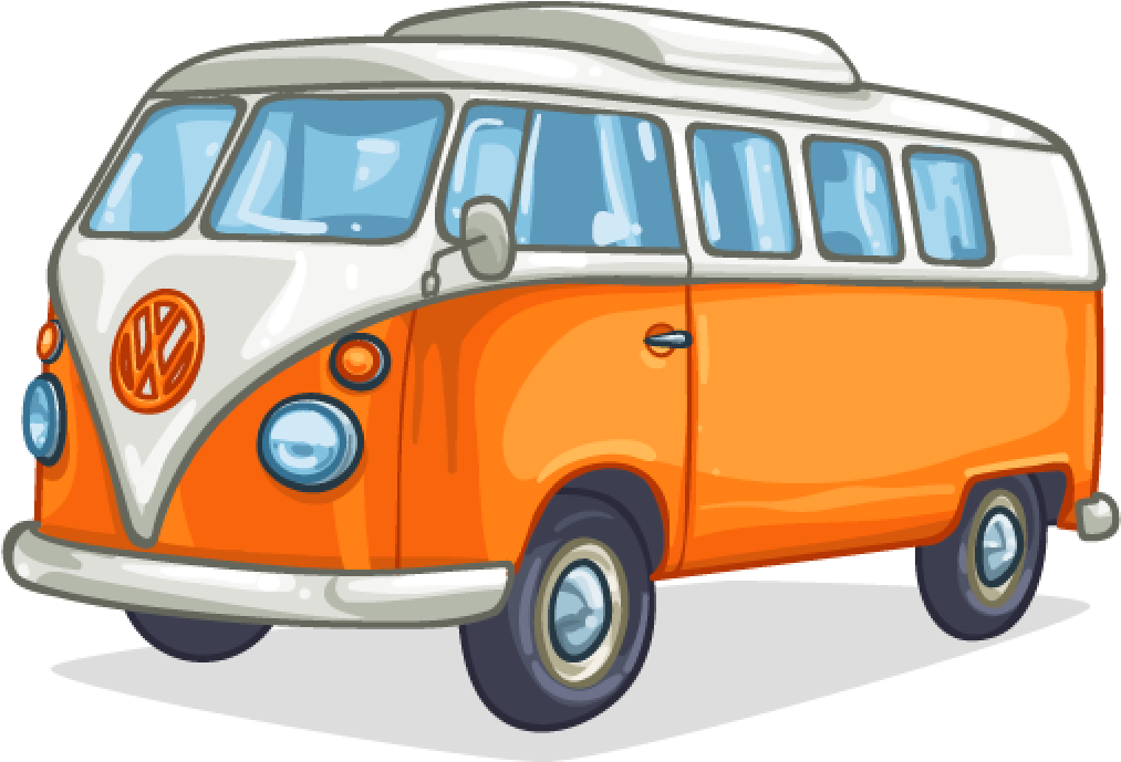 Vw Bus Art - Camper Van Cartoon Clipart - Full Size ...