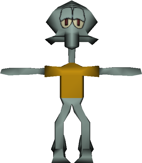 Download Zip Archive Squidward On Cross Clipart Full Size Clipart 3324519 Pinclipart