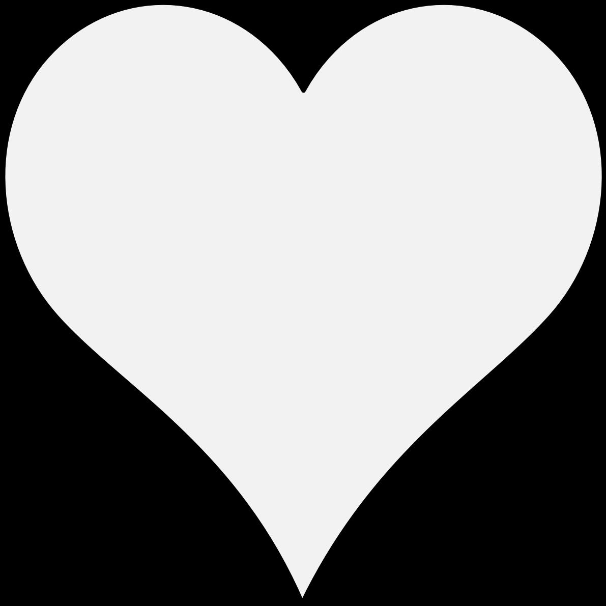 Pdf - White Heart Icon Transparent Background Clipart - Full