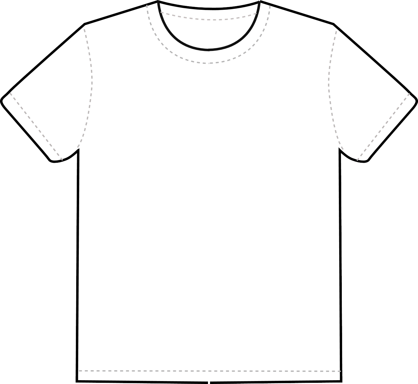 T Shirt Template Png Transparent Image White T Shirt Template