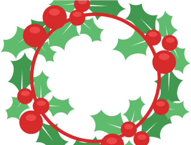 Digital Clipart Christmas Wreath Christmas Wreath Svg Free Png Download Full Size Clipart 3333103 Pinclipart
