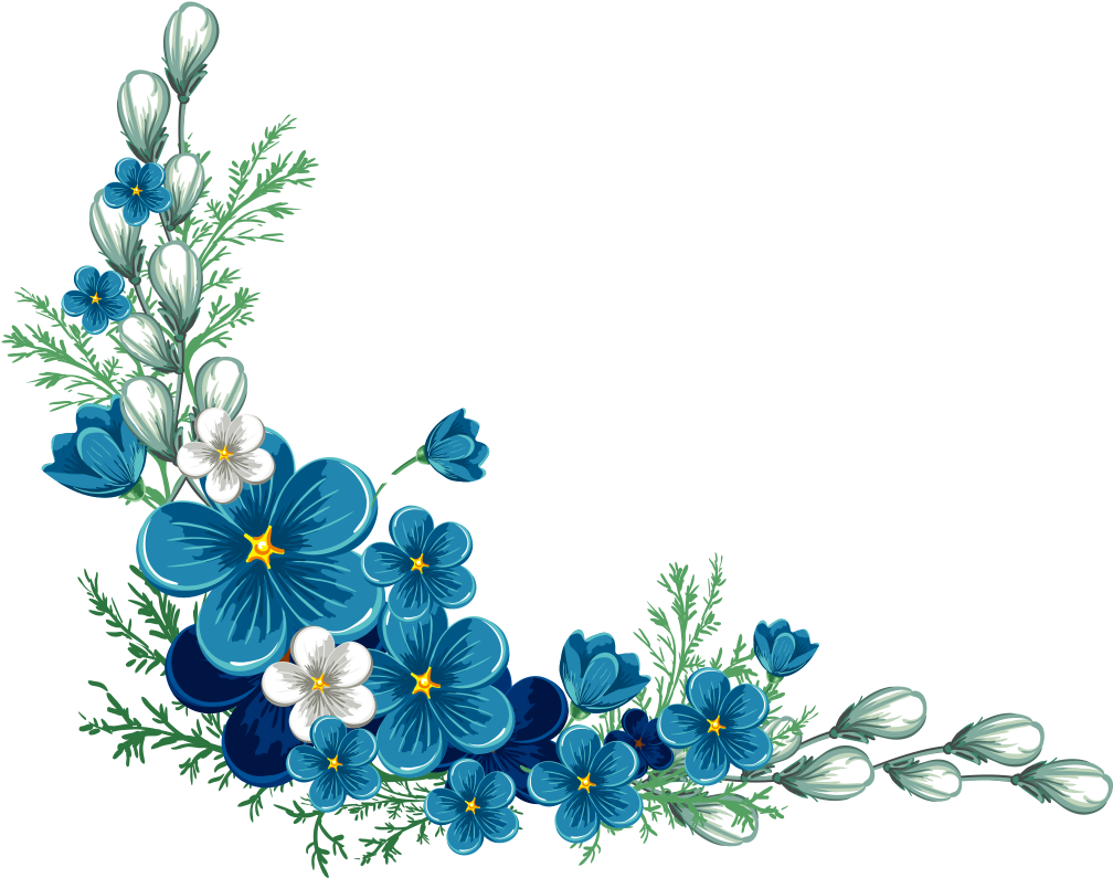Flower Border Design Transparent Background Clipart , Full