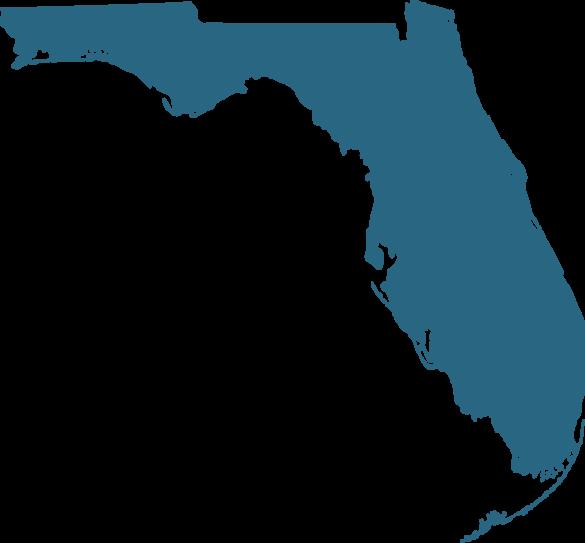 Florida Map Transparent Clipart - Full Size Clipart ...