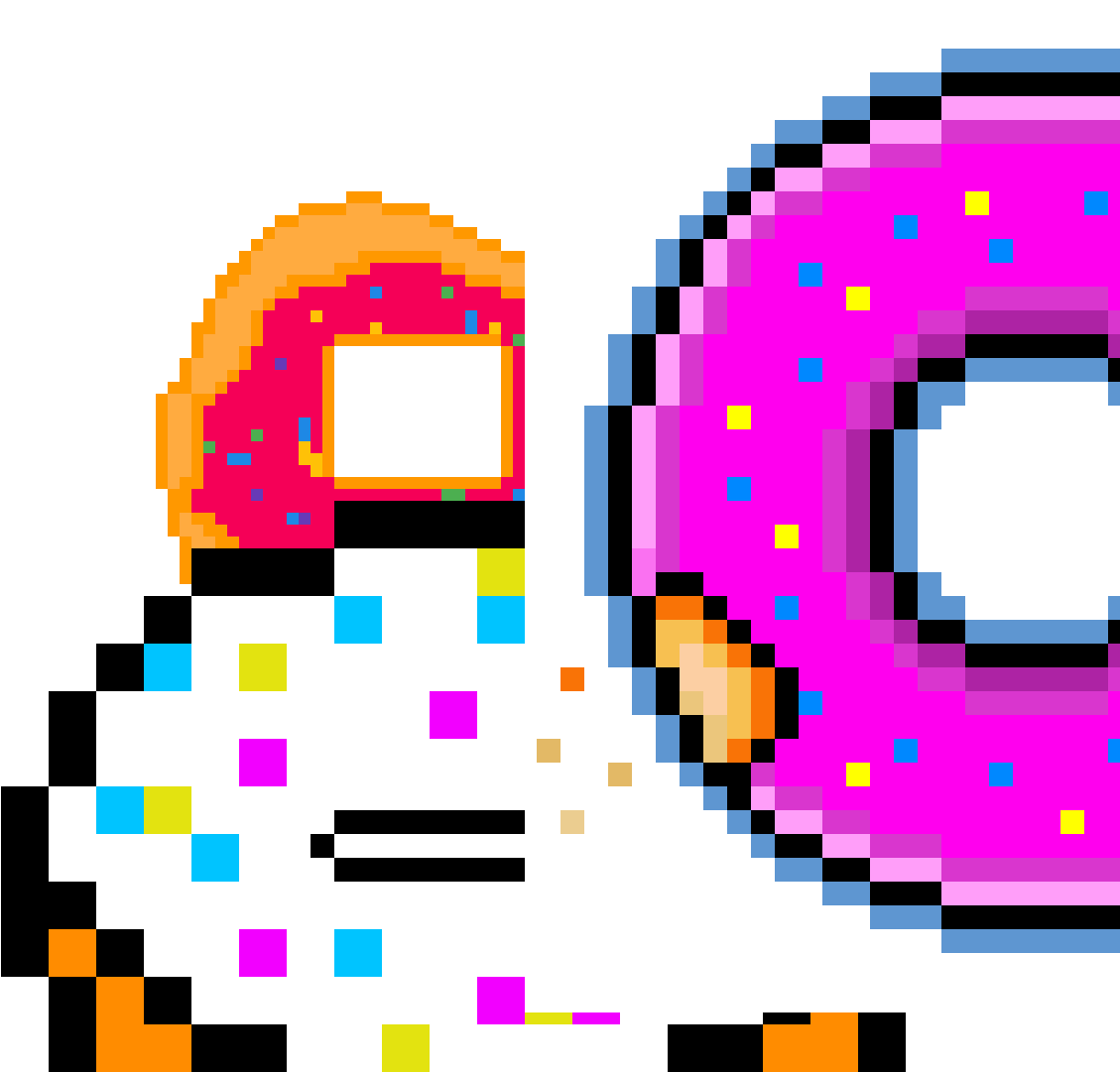 Donuts Logo Badge Pixel Art Tf2 Clipart Full Size