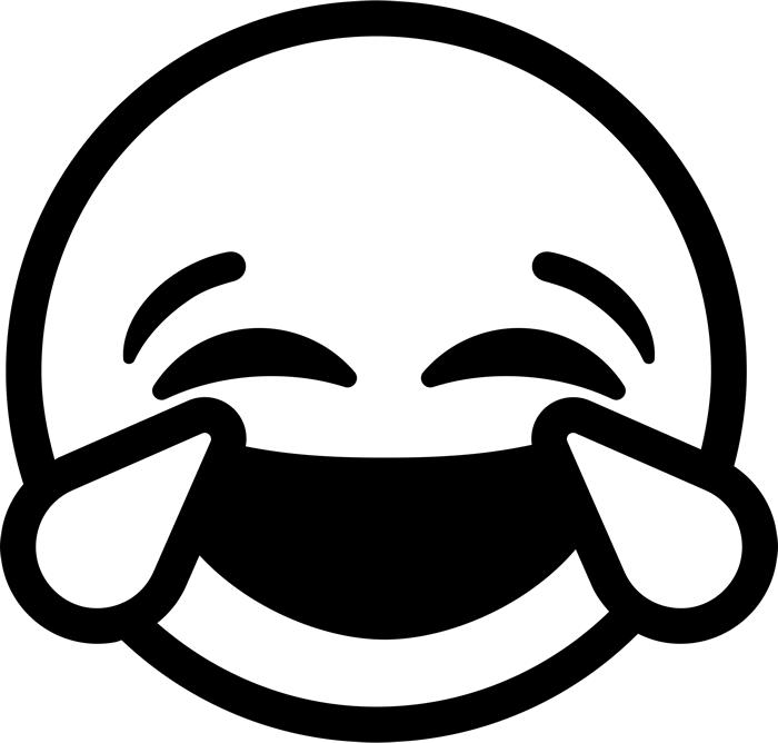 Laughing Tears Emoji Rubber Stamp - Laughing Emoji Black ...
