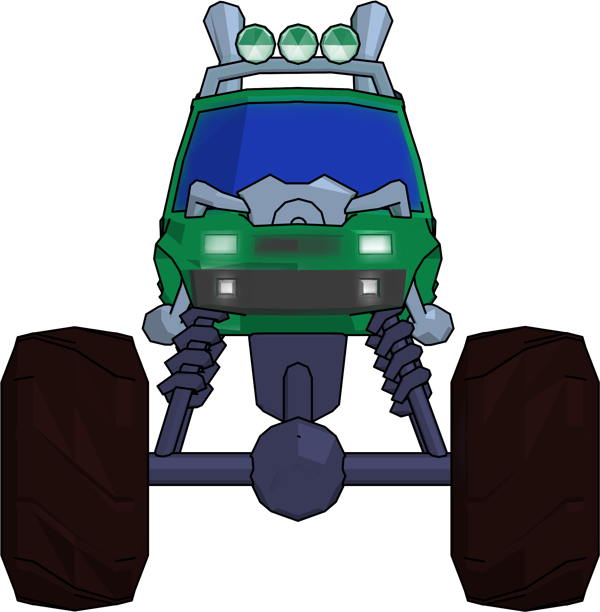 Monster Truck Cartoon Png Clipart Picture Front View Monster Truck Front View Clipart Transparent Png Full Size Clipart 3408721 Pinclipart