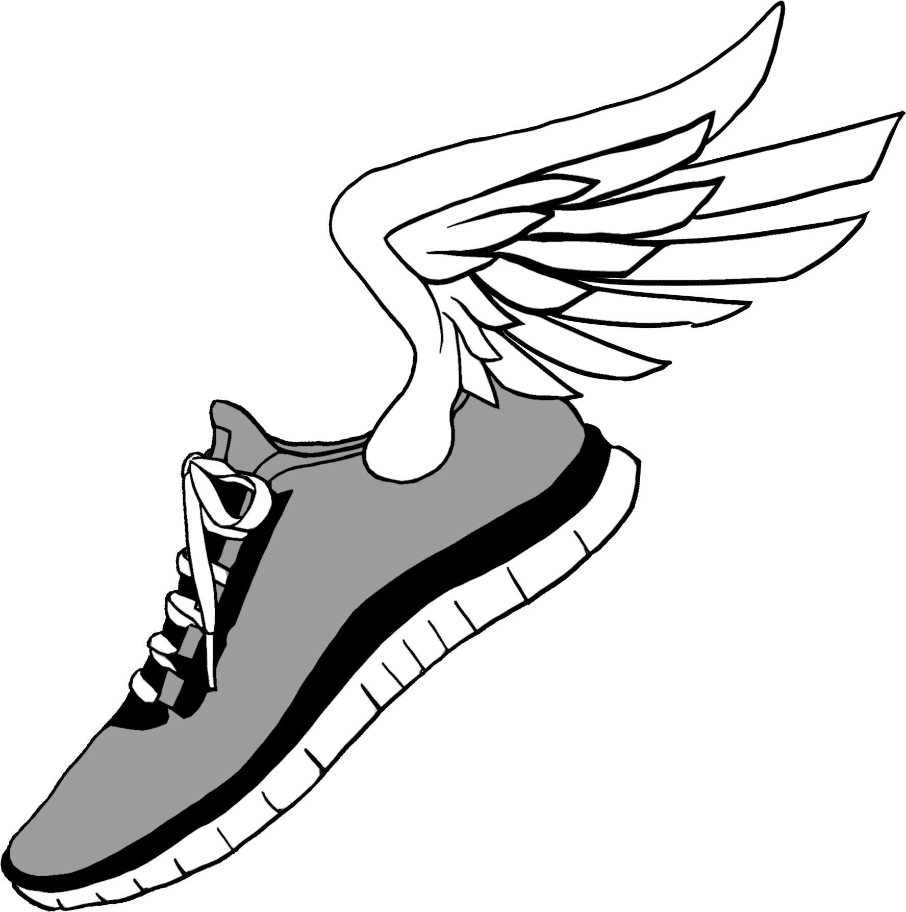 Running Shoes Clip Art , Running Shoes With Wings , Png