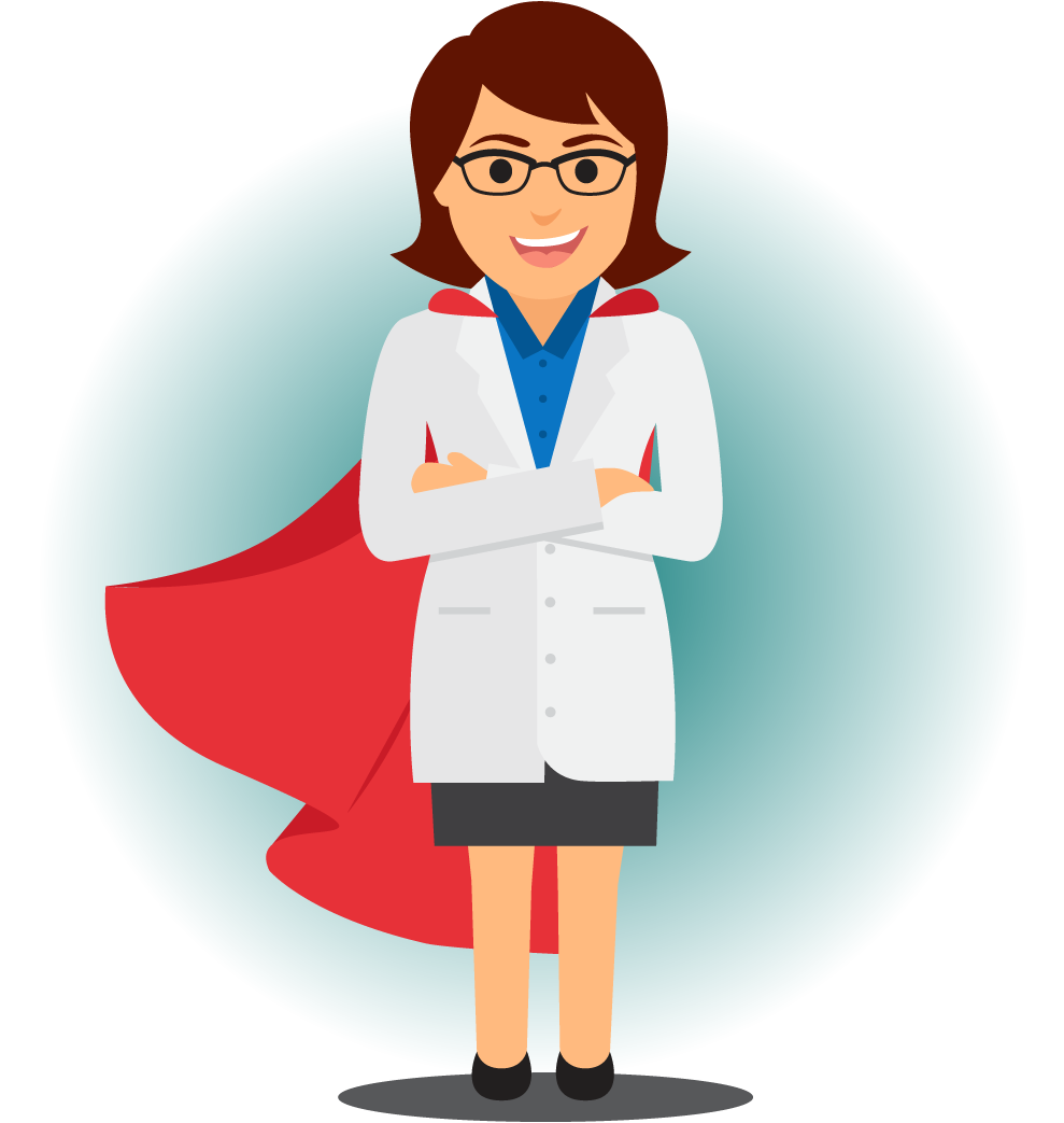 Care Provider Comes To You - Superhero Doctor Clipart - Full Size Clipart  (#3433027) - PinClipart