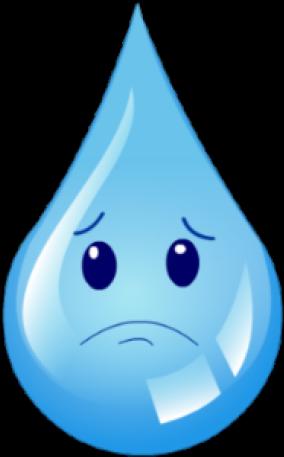 Waterdrop Clipart Wter - Sad Drop Of Water - Png Download ...