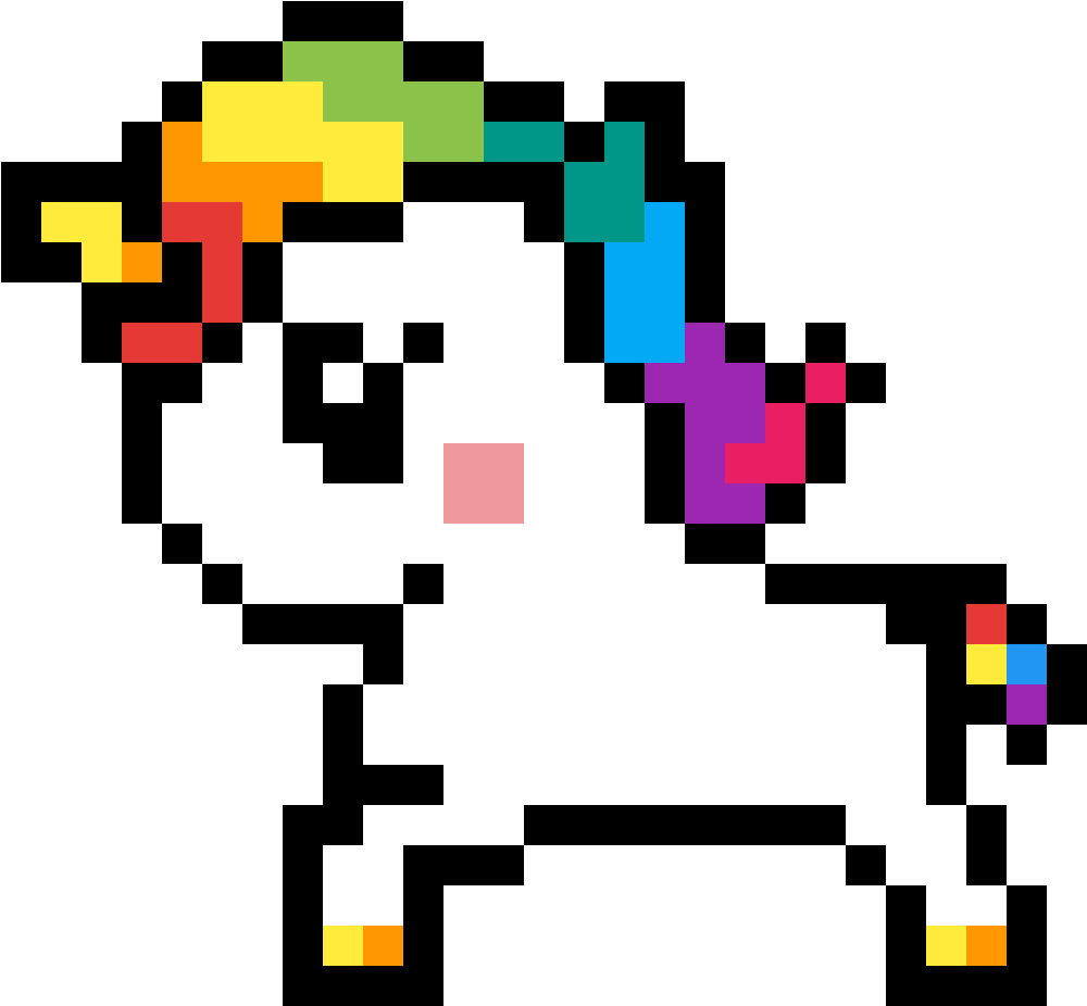 Baby Unicorn Facile Pixel Art Pokemon Clipart Full Size