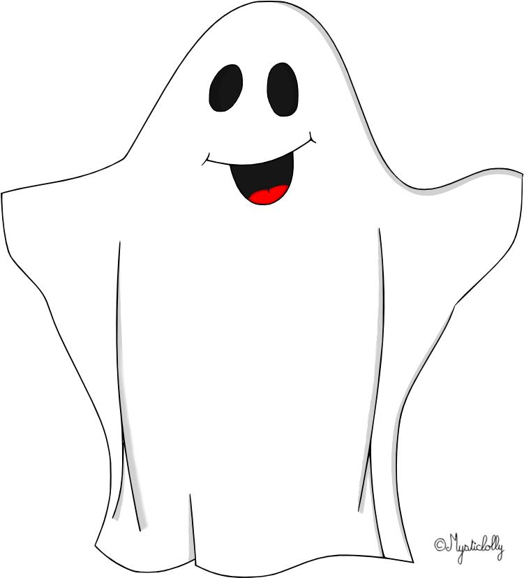 Раскраска привидение хэллоуин