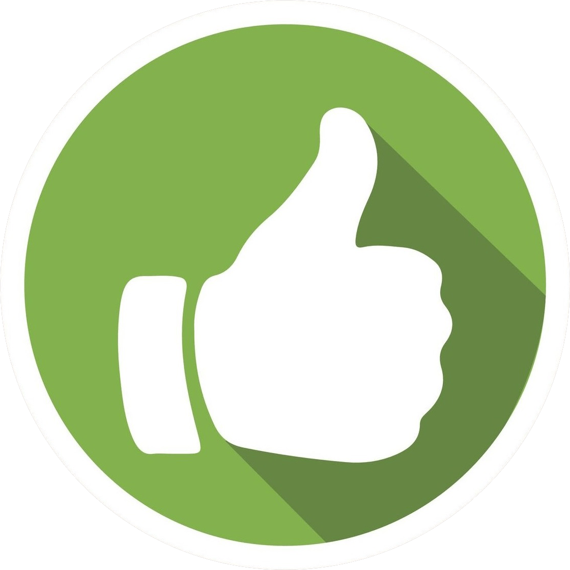 Positive Png - Thumb Up Green Png Clipart - Full Size ...