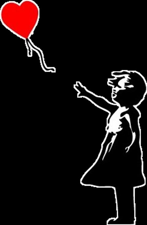 Banksy Balloon Girl Clipart (#3525143) - PinClipart
