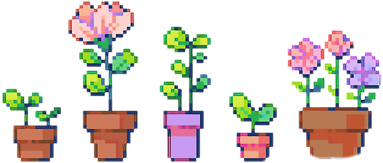 Cigarette Clipart Pixel - Flower Pot Pixel Art - Png Download - Full Size  Clipart (#3574620) - PinClipart