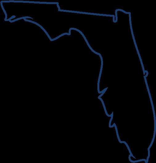 Florida - Florida State Outline Transparent Clipart - Full ...