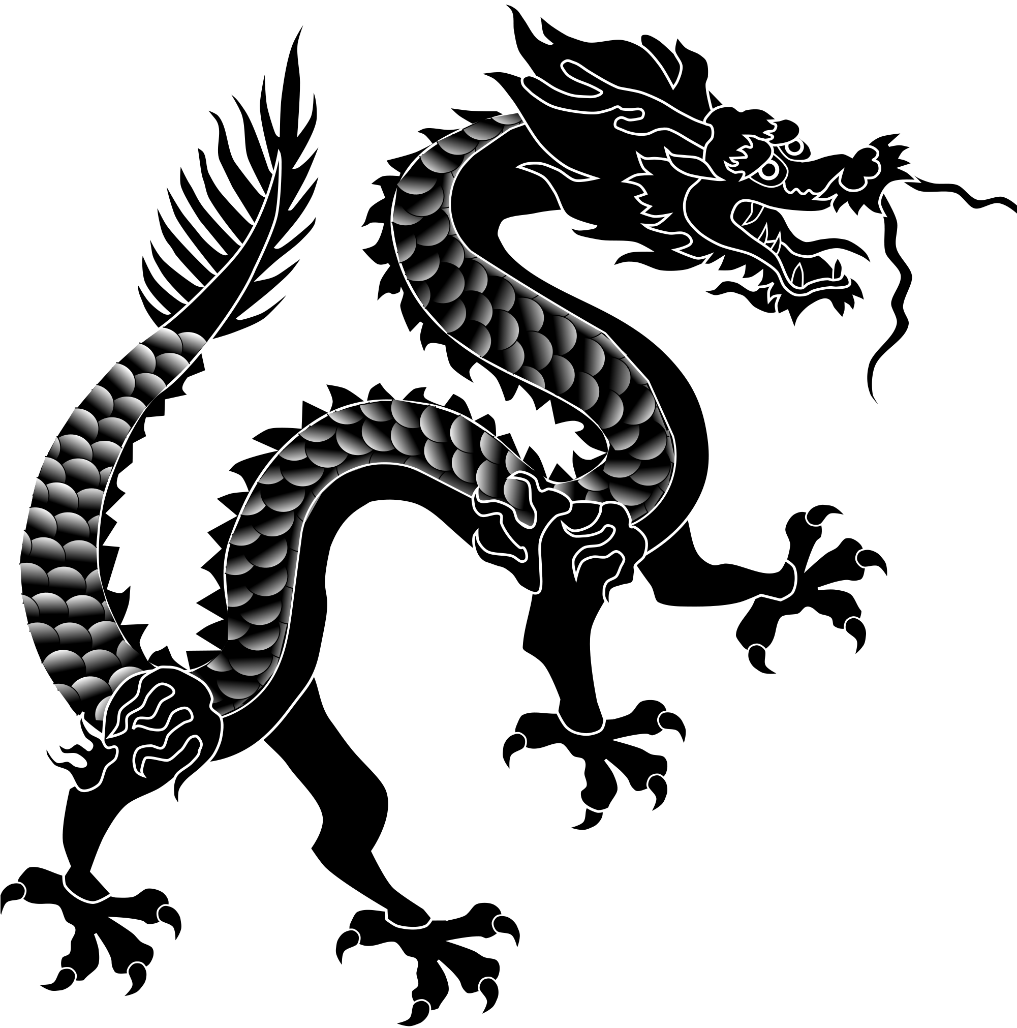 Download 2000 X 2040 21 0 - Chinese Dragon Silhouette Png ...