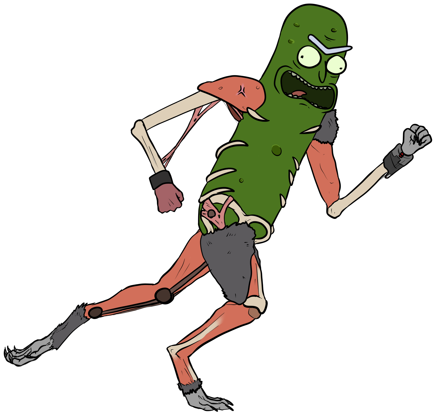 Pickle Rick Png - Pickle Rick In Rat Suit Clipart - Full ...