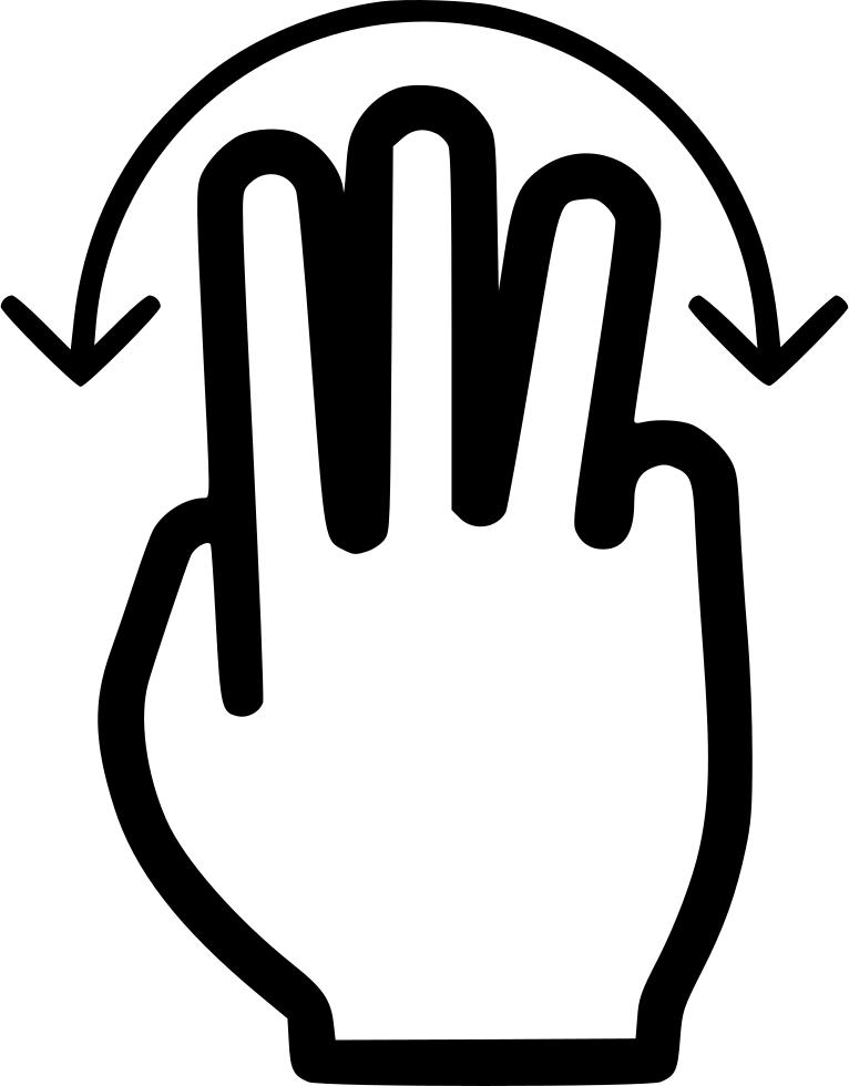 Finger Clipart Three Finger - Three Fingers Svg, HD Png Download ,  Transparent Png Image - PNGitem
