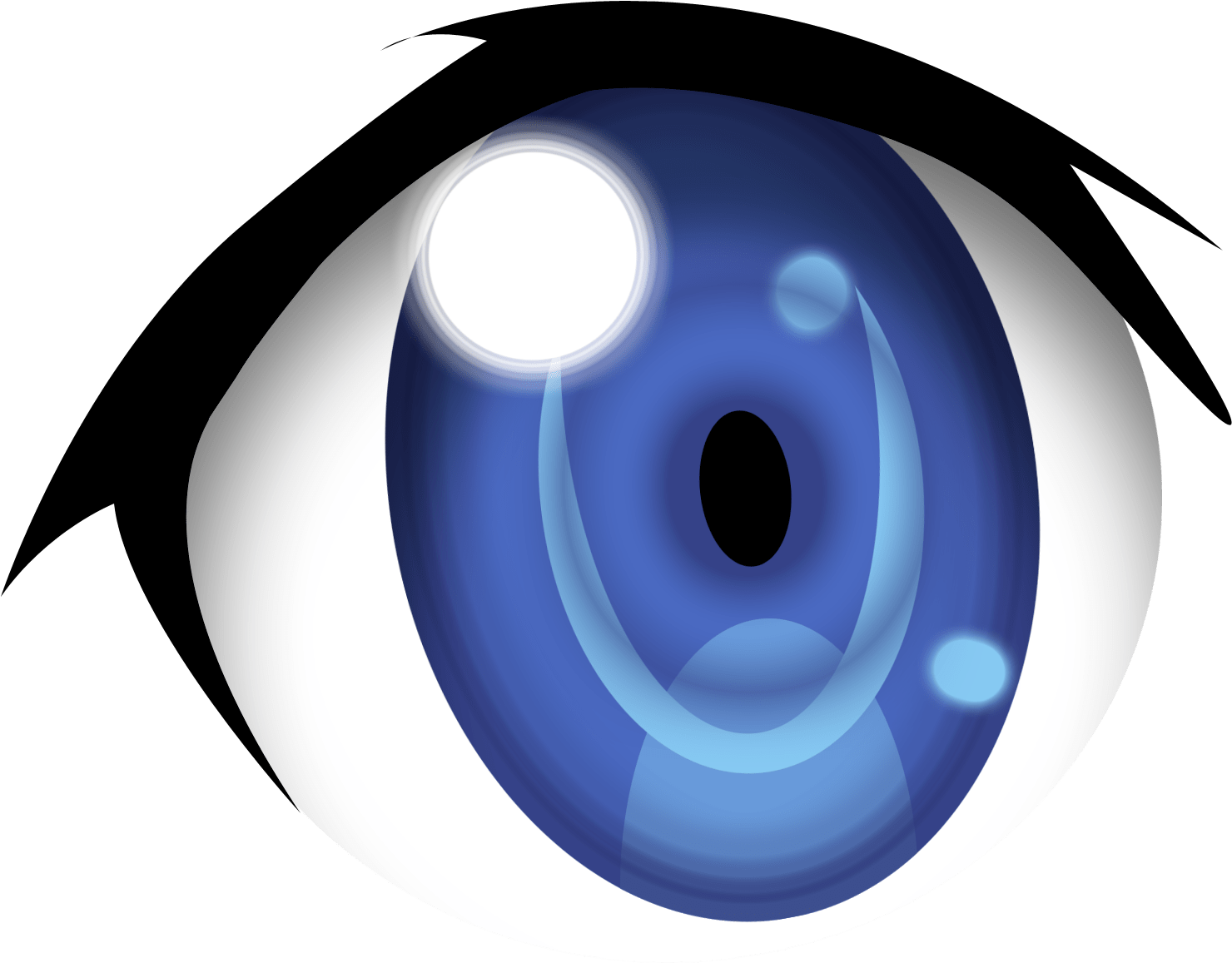 Cartoon Eyes Clip Art Blue Anime Eyes Png Transparent Png Full