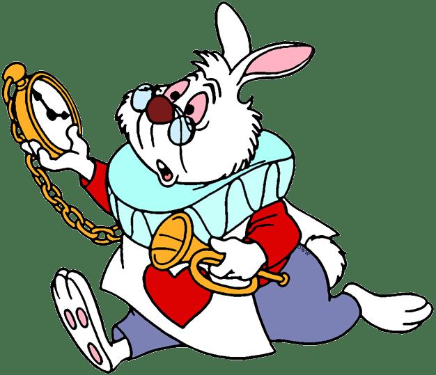 Download White Rabbit Alice Running Clipart (#3729826 ...