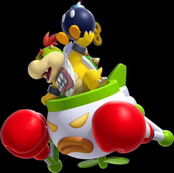 Flying Across The Screen Holding A Bomba Super Mario Bros