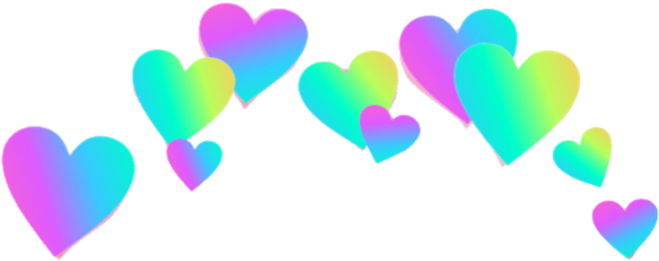 Rainbow Hearts Png - Rainbow Heart Crown Png Clipart ...