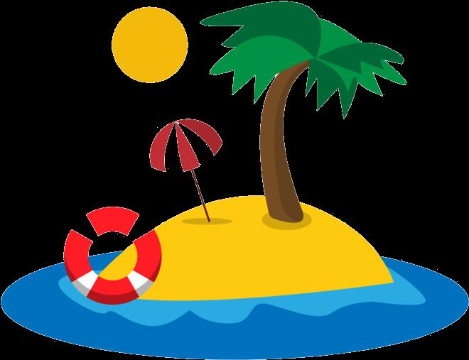 Resort Restaurant Palmeras De Playa Dibujos Clipart Full Size