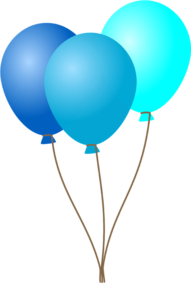 Balloons vector. Birthday decoration png image