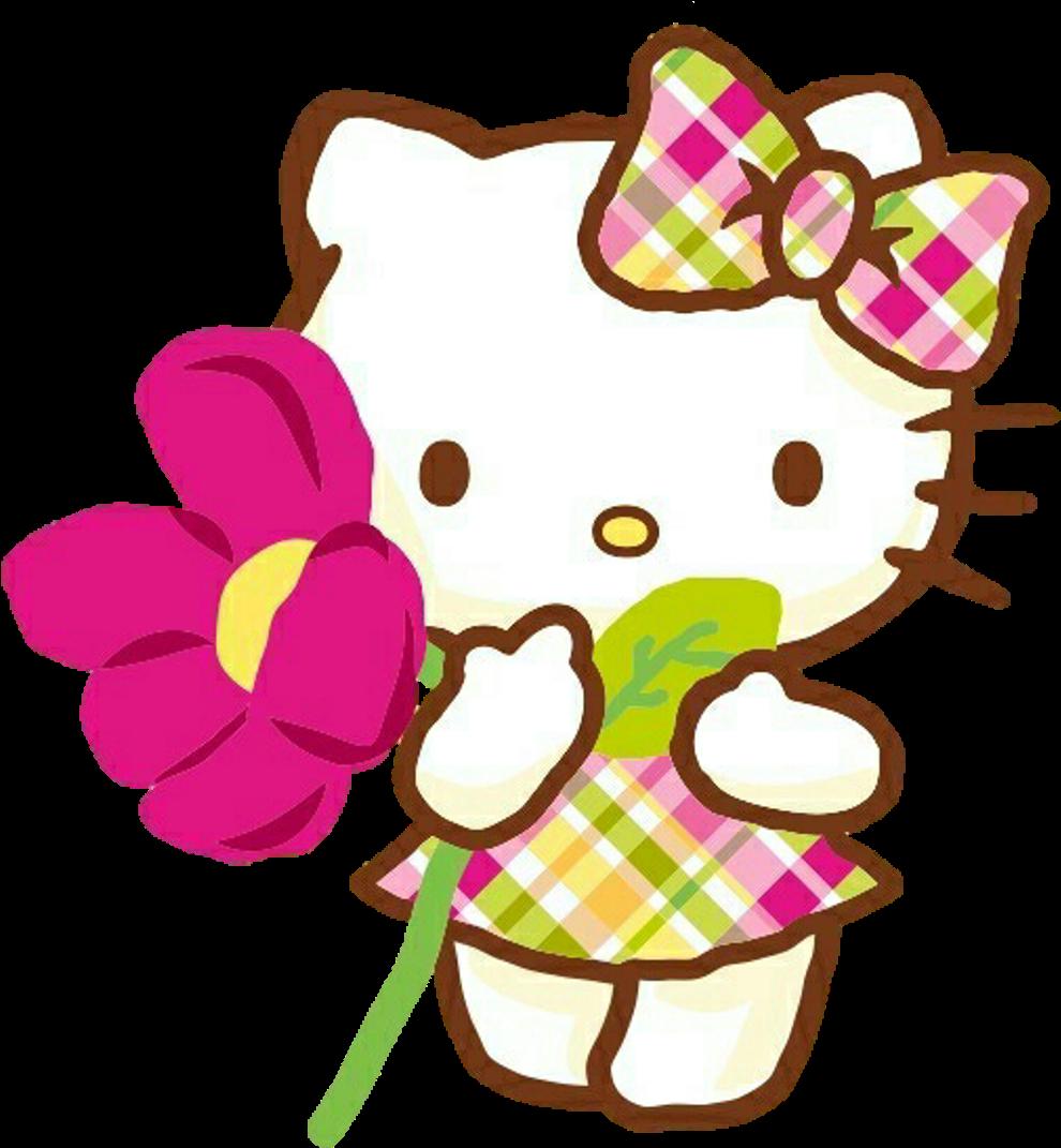 Hellokitty Hello Kitty Spring Primavera Flower Cute Hello Kitty Png Clipart Full Size Clipart 3863025 Pinclipart