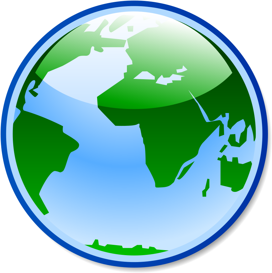 Vector Globe Icon - Browser Image Jpg Clipart - Full Size