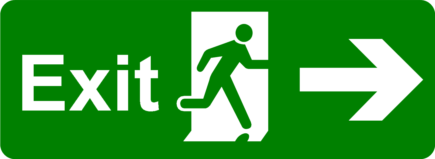 Exit Png Picture - Safety Signs Emergency Exit Clipart ...