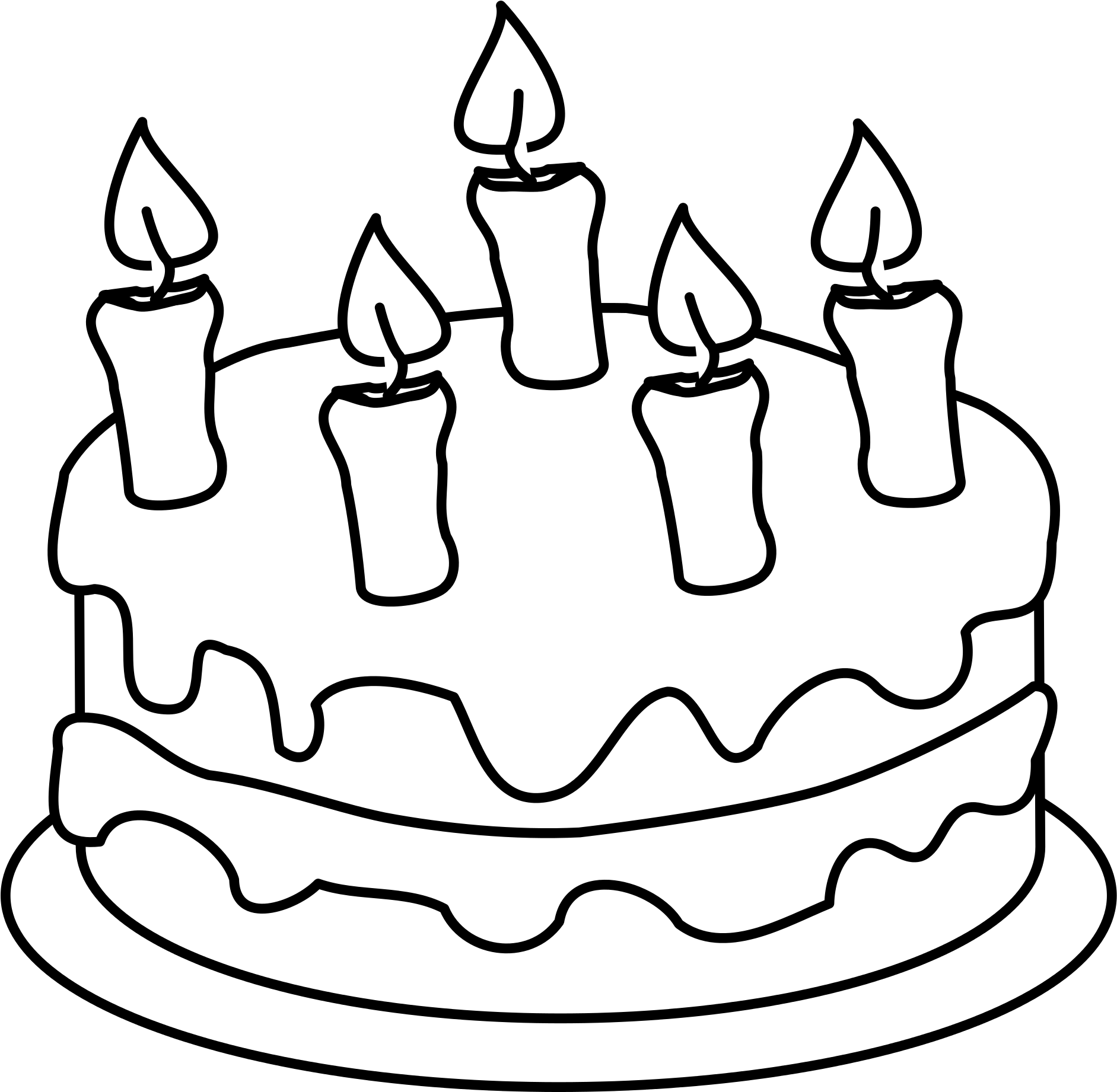 Surprising Happy Birthday Cake Clipart Colouring Pages Of Cake Png Funny Birthday Cards Online Elaedamsfinfo