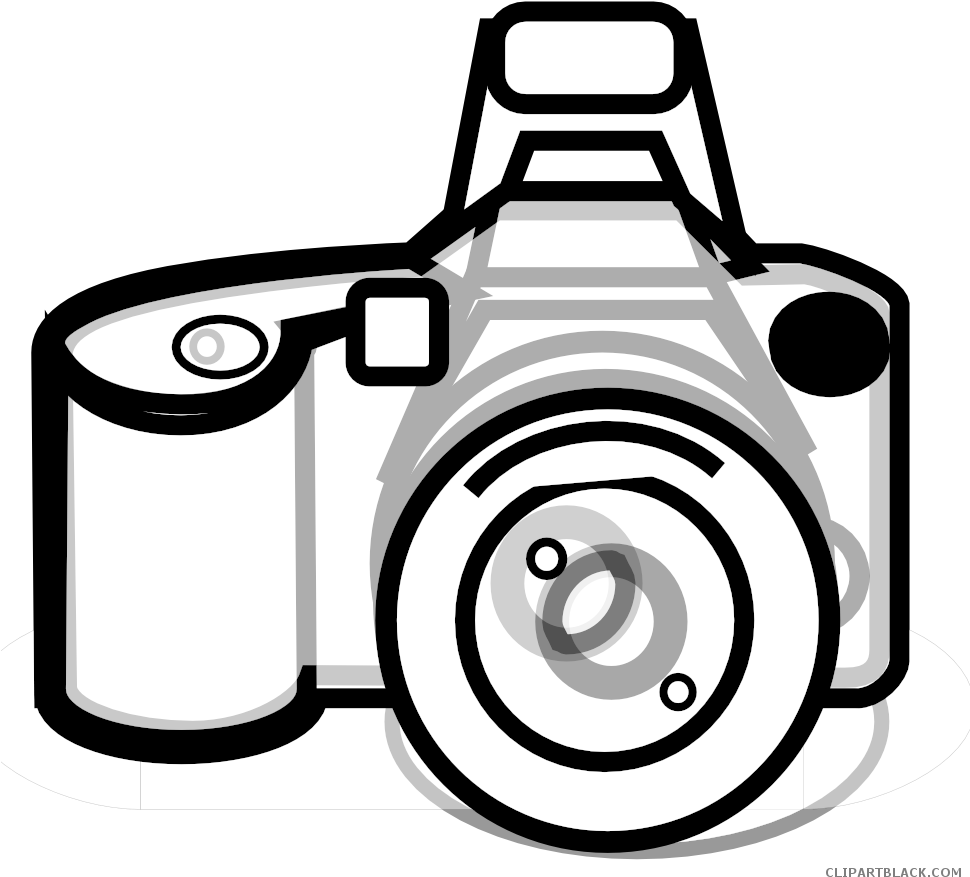 Clip Art Freeuse Stock Camera Black And White Clipart - Clip