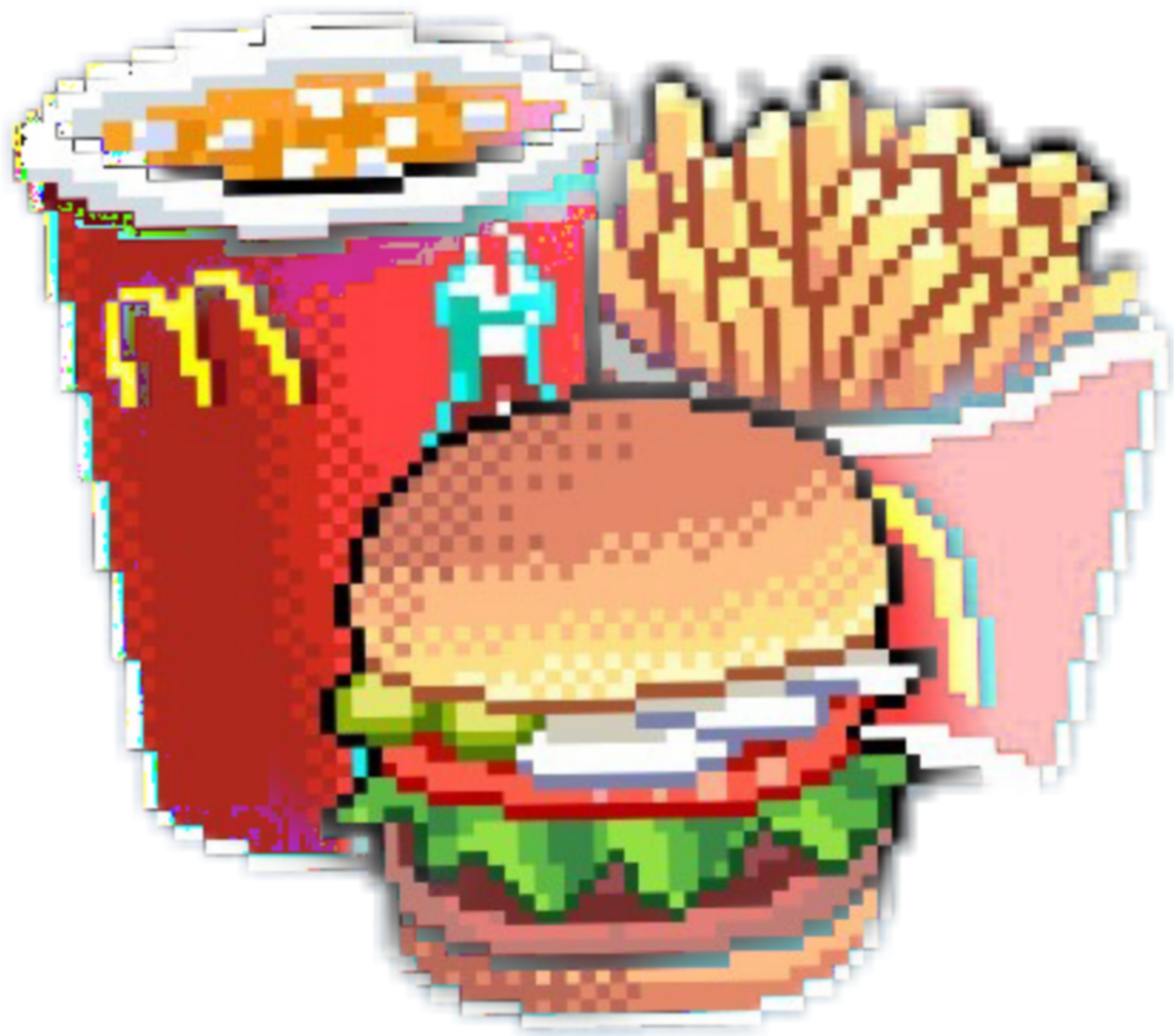Mcdonald Tumblr Chick Chips Burger Hake Hakeslider Pixel