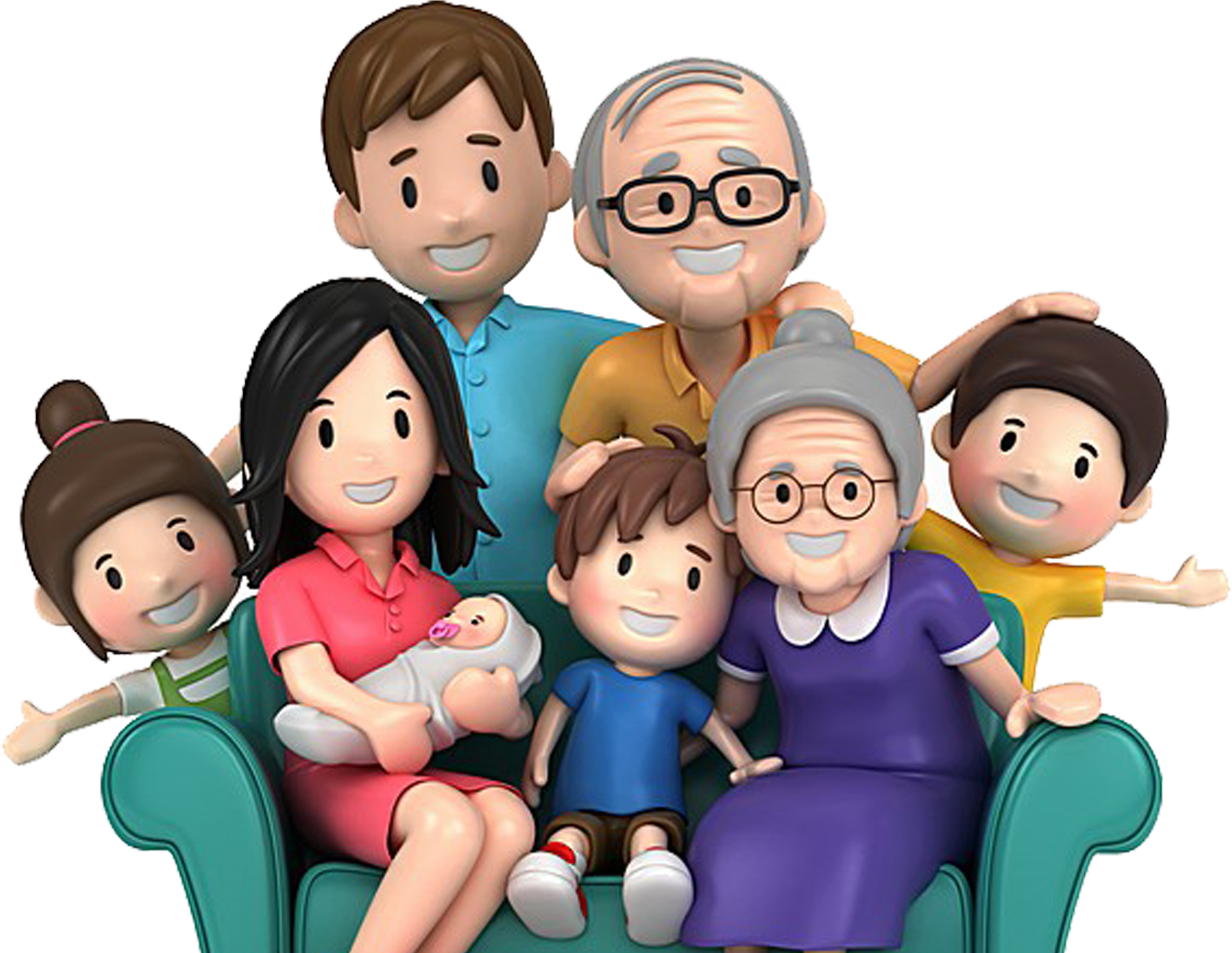 Cartoon Family Pic - Cartoon Family Group Happy Family Clipart - Full Size Clipart (#4074257 ...