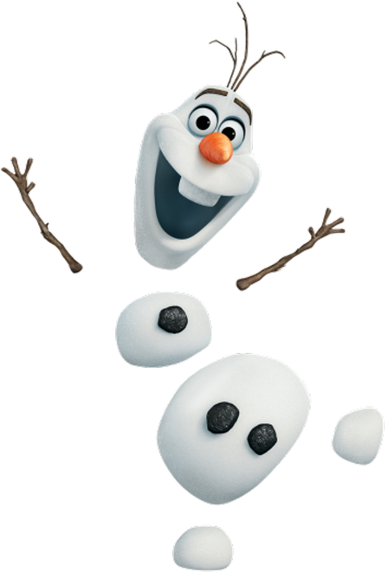 Ftestickers Snowman Olaf Frozen Snow Christmas Cabeza De