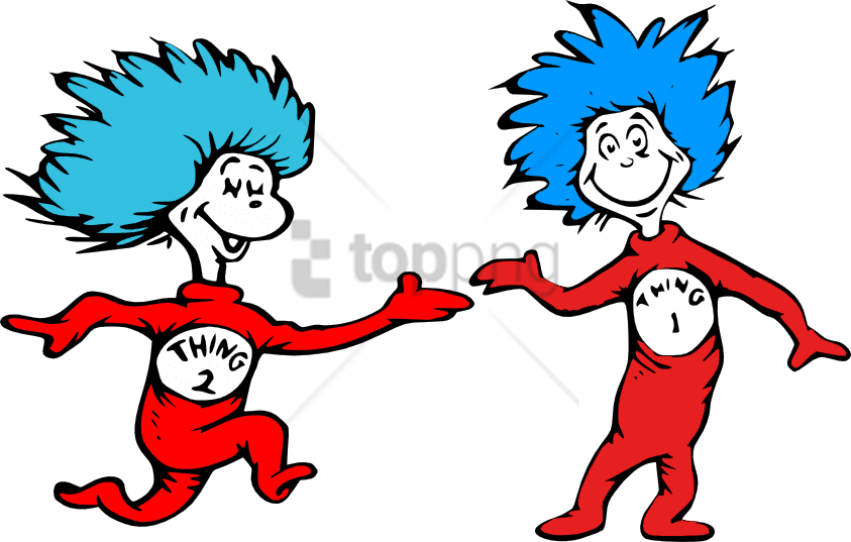 graphic regarding Thing 1 and Thing 2 Printable Clip Art known as Free of charge Png - Dr Seuss Point 1 And Issue 2 Clipart - Finish Dimension
