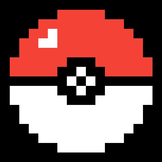 Dank Pokeball Pokeball Pixel Art Clipart Full Size
