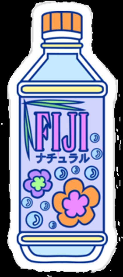 Fiji Bottle Water Pixel Aesthetic Fiji Water Bottle