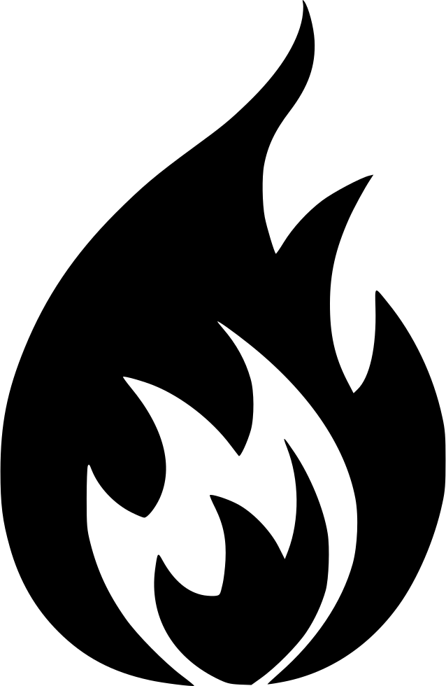 Fire Icon Png Transparent Background - Fire Hazard Sign ...