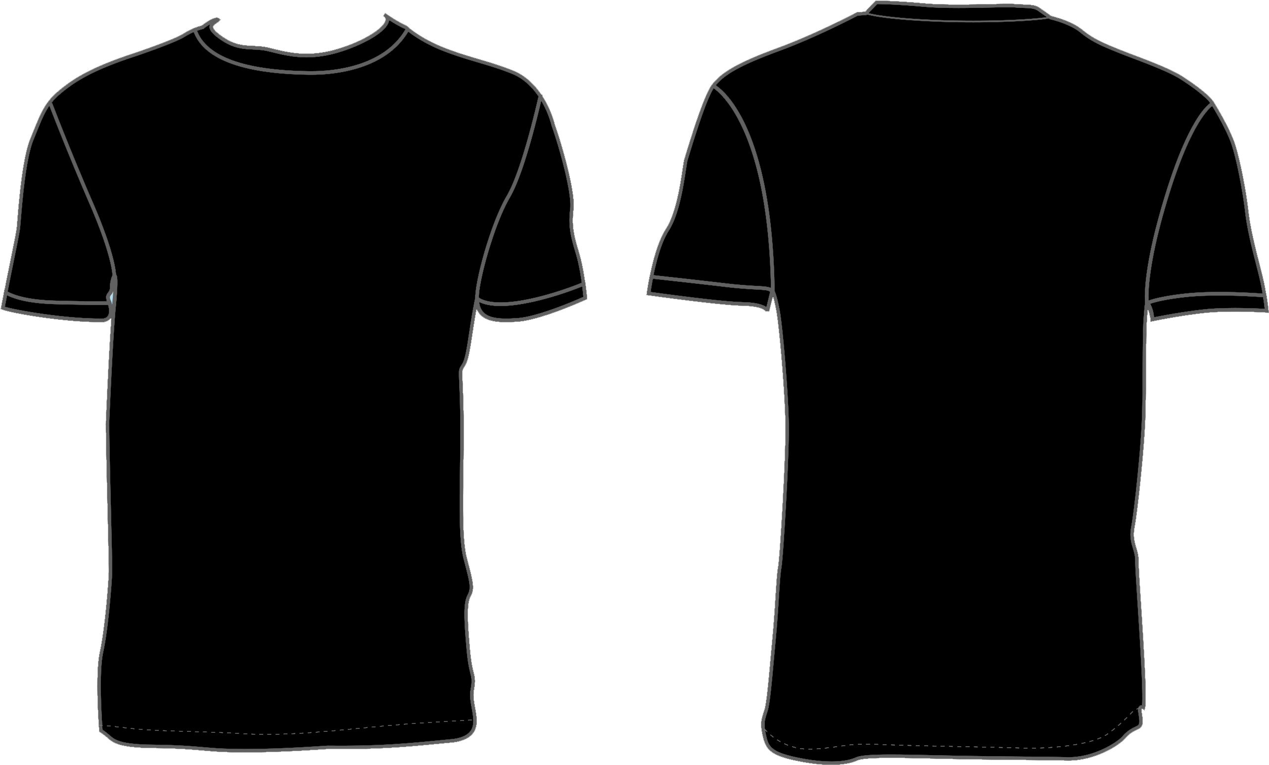 Black Shirt Template Png Clipart Full Size Clipart 4207455