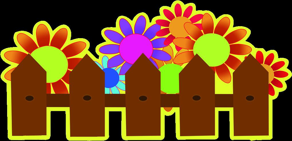 Fence Pickets Flower Garden Clip Art - Picket - Cartoon Transparent PNG
