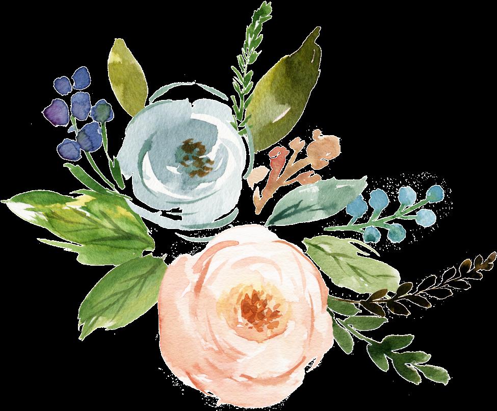 Fine Watercolor Flower Transparent - Watercolor Flowers ...
