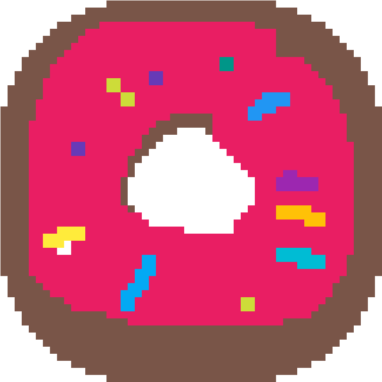 Pixel Donut Facile Pixel Art Pokemon Clipart Full Size